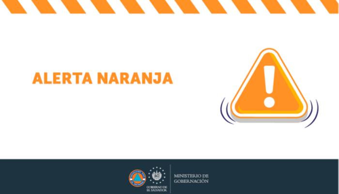 El Salvador bajo Alerta Naranja en la zona costera y volcánica y Alerta Amarilla en el resto del país