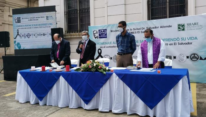 """Movimiento por la Salud """"Dr. Salvador Allende"""" conmemoró al personal de salud que ofrendó su vida en la atención a la pandemia"""